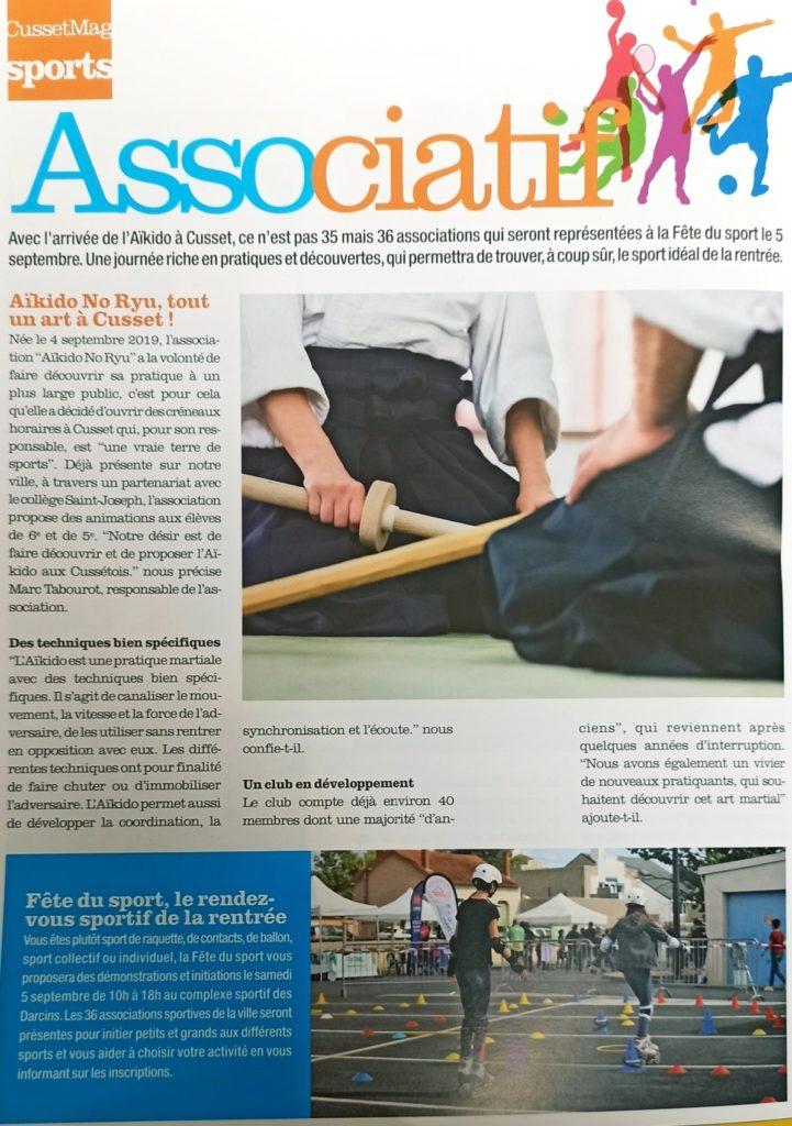 Cusset Mag Sport de Septembre 2020